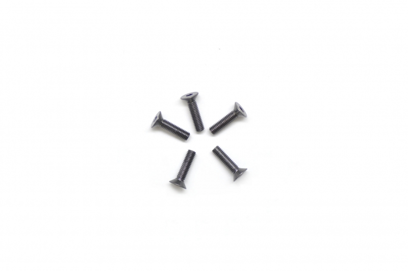Screw alu allen countersunk M3x12 Gray (7075) (5)