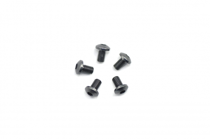 Screw alu allen roundhead M3x5 Gray (7075) (5)